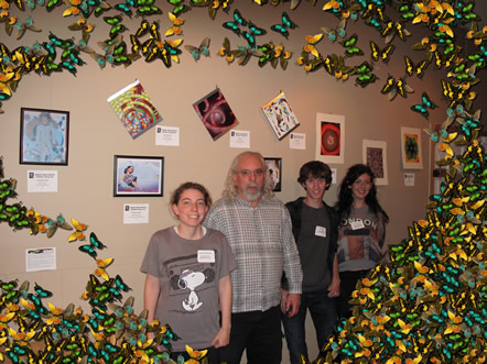 3 of the 5 Student Artists & M. D. Friedman